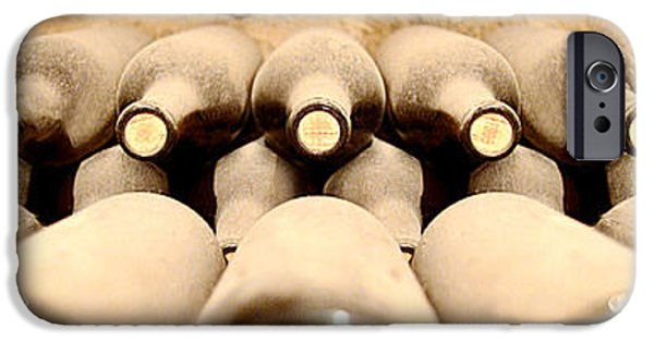 Wine Bottles Photographs iPhone Cases - Cellar Dwellars iPhone Case by Jon Neidert