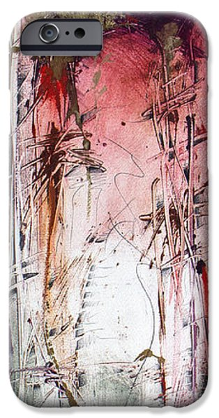 Abstract Expressionist iPhone Cases - Cello iPhone Case by Jeannette Debonne