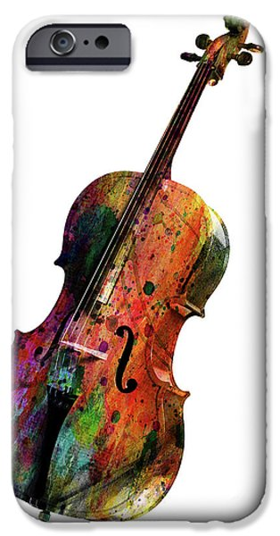 Animation iPhone Cases - Cello iPhone Case by Mark Ashkenazi
