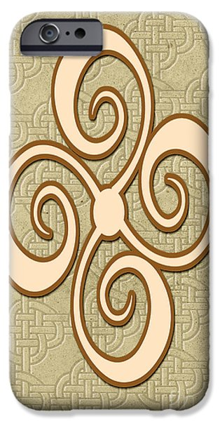 Multimedia iPhone Cases - Celtic Art iPhone Case by Tina M Wenger