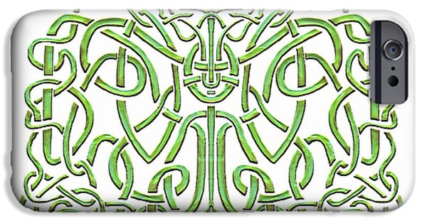 Celtic Knotwork iPhone Cases - Celtic Knotwork No.2 iPhone Case by Paul Hess