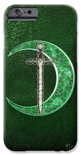 Celtic Knotwork iPhone Cases - Celtic Moon iPhone Case by Chris MacDonald