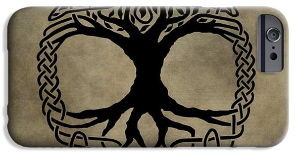 The Trees Mixed Media iPhone Cases - Celtic Tree Of Life iPhone Case by Dan Sproul