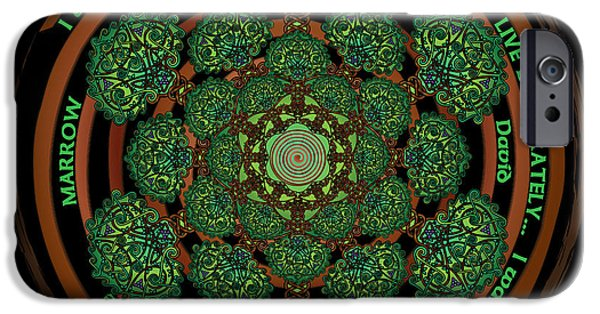 Celtic Spiral iPhone Cases - Celtic Tree of Life Mandala iPhone Case by Celtic Artist Angela Dawn MacKay