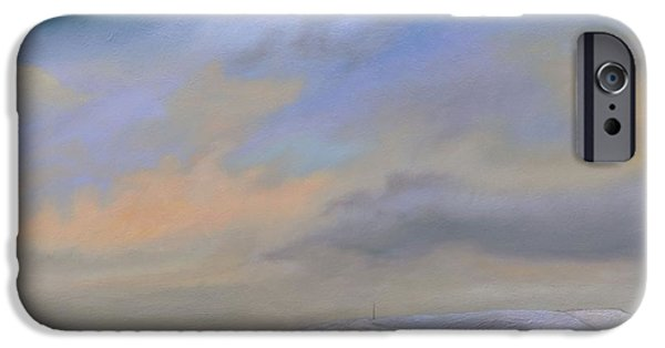 Peak iPhone Cases - Cement Works, Hope Valley, Derbyshire, 2009 Oil On Canvas iPhone Case by Trevor Neal