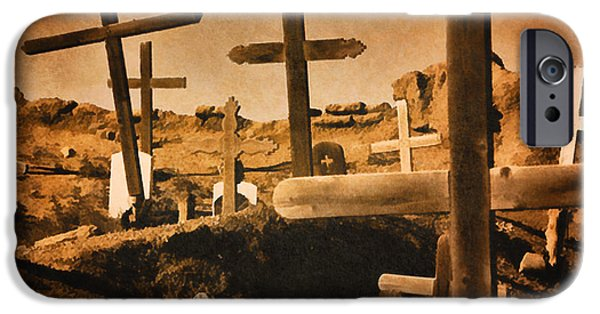 Cemetary iPhone Cases - Cemeteries of New Mexico iPhone Case by Douglas MooreZart