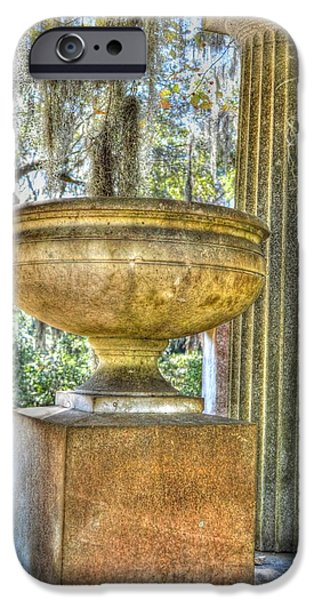 Line Sculptures iPhone Cases - Cemetery urn iPhone Case by Linda Covino