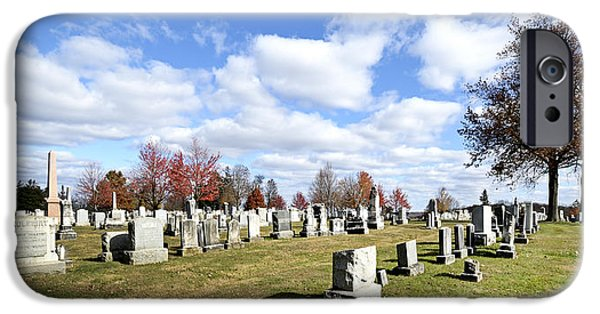 Battlefield Site iPhone Cases - Cemetery at Gettysburg National Battlefield iPhone Case by Brendan Reals