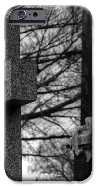Cemetery Crosses iPhone Case by Jennifer Lyon