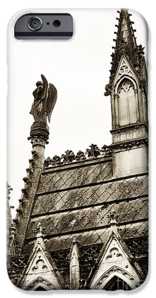 Cemetery Guardian iPhone Case by John Rizzuto