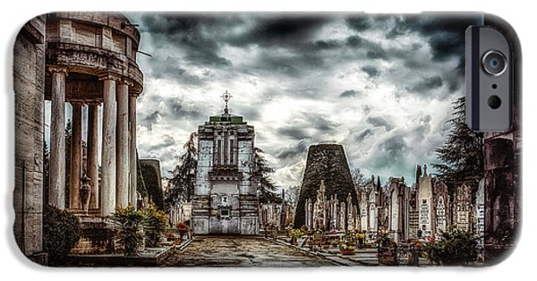 Landscape Poster Photographs iPhone Cases - Cemetery of Mantova  iPhone Case by Traven Milovich