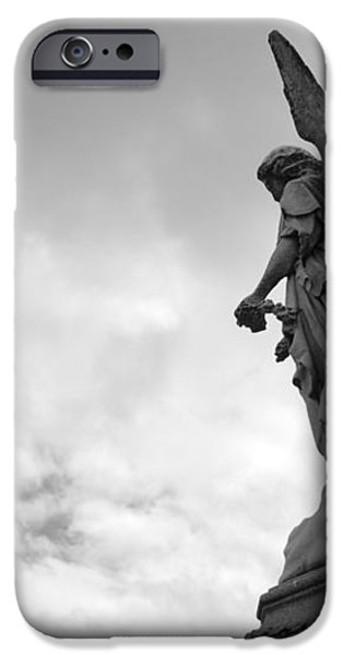 Cemetery Watcher iPhone Case by Jennifer Lyon