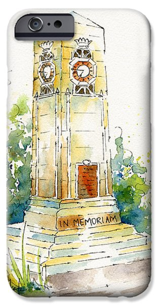 Cenotaph Clock Tower iPhone Case by Pat Katz