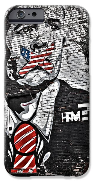 Censorship iPhone Cases - Censorship Expressed Mural iPhone Case by Brian Archer