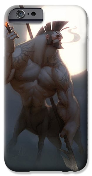 Medieval iPhone Cases - Centaur iPhone Case by Adam Ford