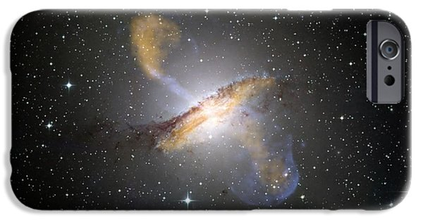 Stellar Paintings iPhone Cases - Centaurus Galaxy iPhone Case by Celestial Images