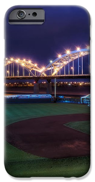 Centennial Bridge and Modern Woodmen Park iPhone Case by Scott Norris