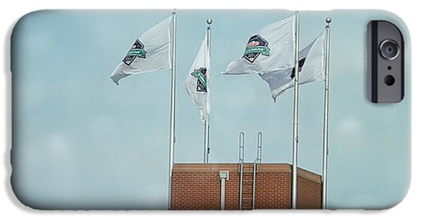 Baseball Stadiums iPhone Cases - Center Field Flags iPhone Case by Terry Weaver