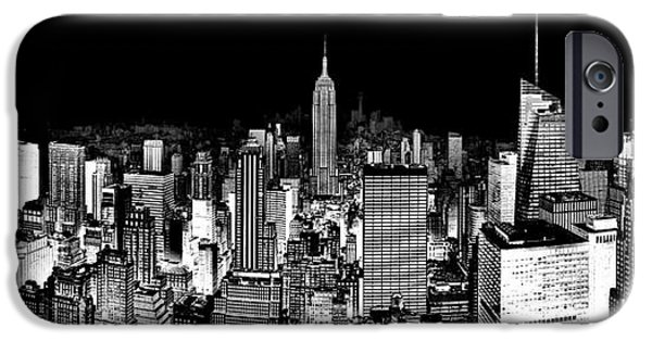 Empire State Building iPhone Cases - Center Of The Universe iPhone Case by Az Jackson