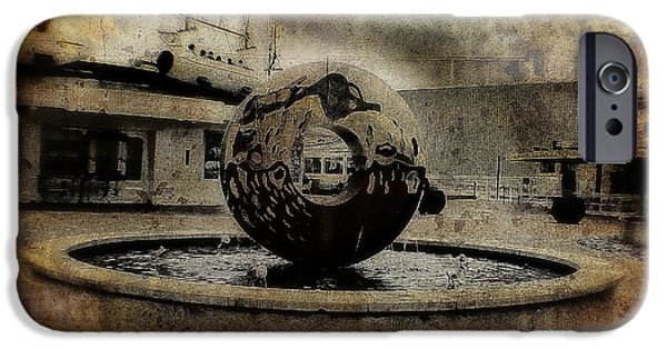 Turn Of The Century Mixed Media iPhone Cases - Center Of The World iPhone Case by Michael Braham
