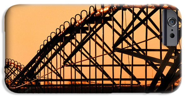 Crops iPhone Cases - Center Pivot Sprinkler Silhouette iPhone Case by Bill Kesler
