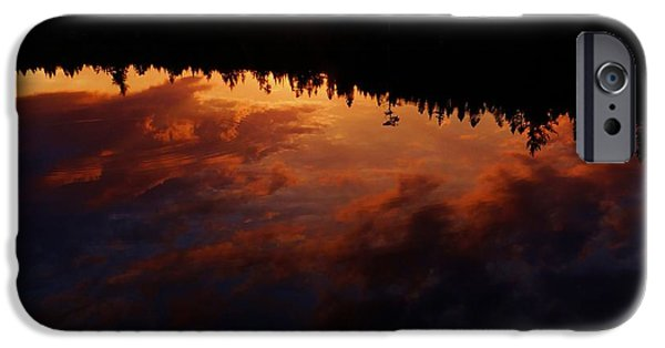 Nature Center Pond iPhone Cases - Center Pond Baxter State Park iPhone Case by Tim  Canwell