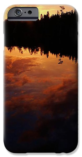 Center Pond Baxter State Park iPhone Case by Tim  Canwell