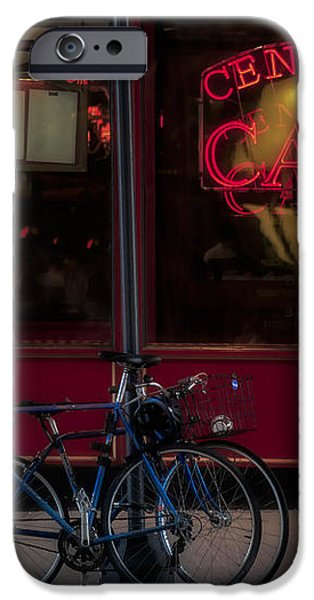 Central Cafe Bicycles iPhone Case by Susan Candelario