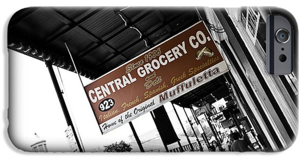 South Louisiana Photographs iPhone Cases - Central Grocery iPhone Case by Scott Pellegrin