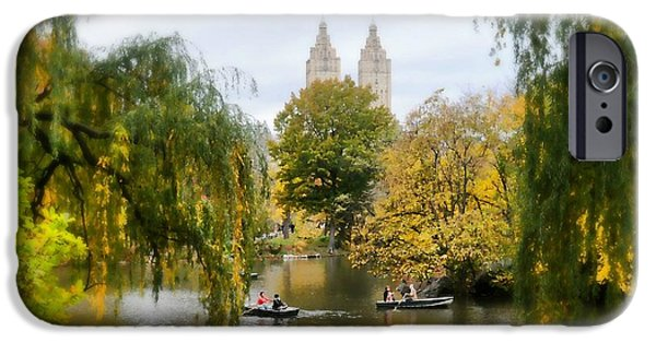 Willow Lake iPhone Cases - Central Park #7 iPhone Case by Diana Angstadt