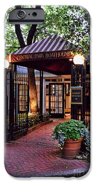 Paul Ward iPhone Cases - Central Park Boathouse iPhone Case by Paul Ward