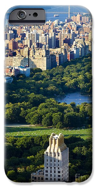 Hudson River iPhone Cases - Central Park iPhone Case by Brian Jannsen