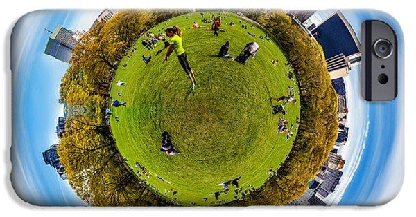 Shape iPhone Cases - Central Park Circagraph  iPhone Case by Az Jackson