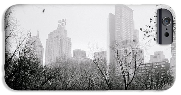 Eerie iPhone Cases - Central Park Dawn iPhone Case by Shaun Higson