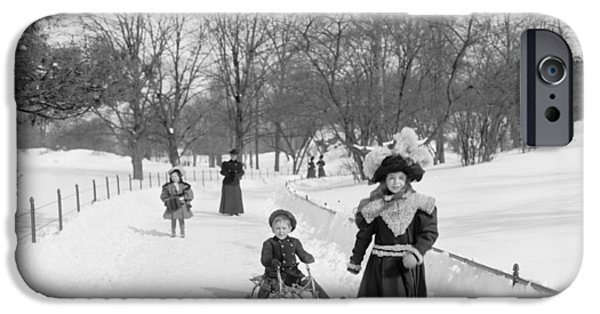 Wintertime iPhone Cases - Central Park in New York iPhone Case by Anonymous