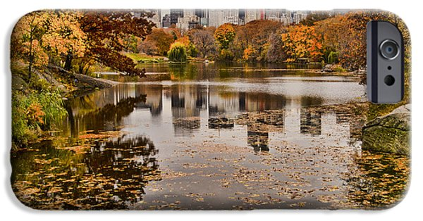 Empire State iPhone Cases - Central Park in the Fall New York City iPhone Case by Sabine Jacobs