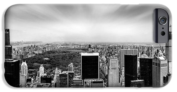 Midtown iPhone Cases - Central Park Perspective iPhone Case by Az Jackson