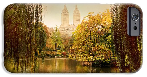 Willow Lake iPhone Cases - Central Park Splendor iPhone Case by Jessica Jenney
