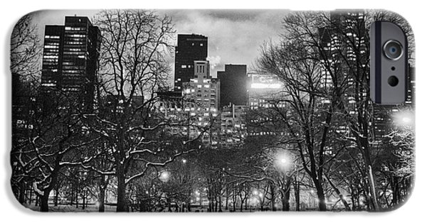Park Scene iPhone Cases - Central Park View iPhone Case by John Farnan