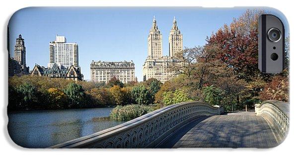 Bow Bridge iPhone Cases - Central Park West iPhone Case by Rafael Macia