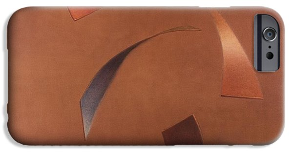 Rotate iPhone Cases - Centrifuge, 2010 Acrylic On Canvas iPhone Case by Lincoln Seligman