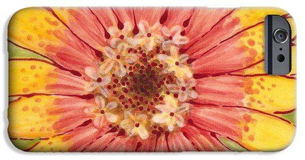 Floral Ceramics iPhone Cases - Ceramic Flower 1 iPhone Case by Anna Skaradzinska