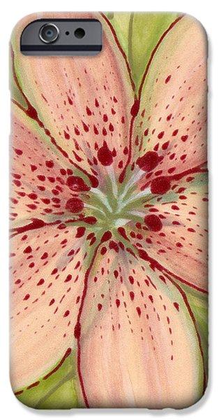 Ceramic Flower 2 iPhone Case by Anna Skaradzinska