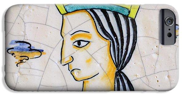 Old Ceramics iPhone Cases - Ceramic Queen iPhone Case by Mair Hunt