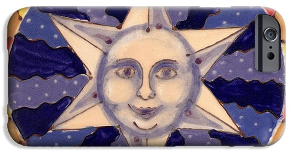 Moon Ceramics iPhone Cases - Ceramic Star iPhone Case by Anna Skaradzinska