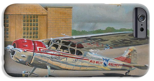 Aeronautics iPhone Cases - Cessna 195 iPhone Case by Stuart Swartz