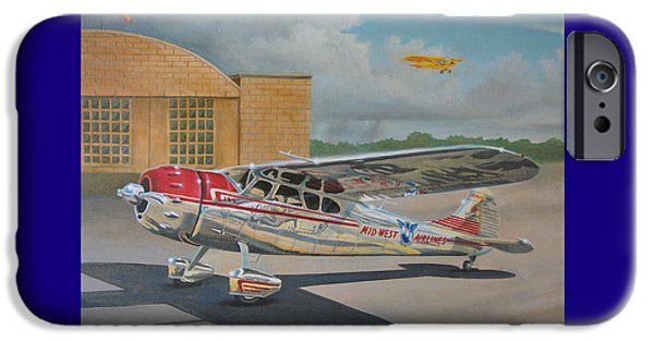 Private iPhone Cases - Cessna 195 iPhone Case by Stuart Swartz