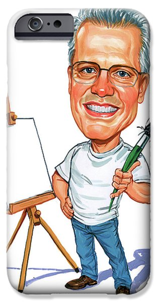 Caricature Artist iPhone Cases - C.F. Payne iPhone Case by Art