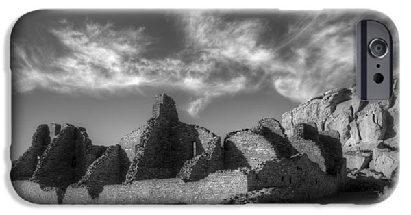 Chaco iPhone Cases - Chaco Canyon Pueblo Bonito iPhone Case by Bob Christopher