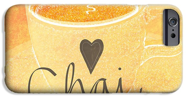 Latte iPhone Cases - Chai Latte Love iPhone Case by Linda Woods